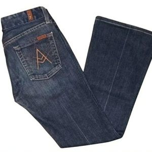 7 for all mankind dark rinse boot cut jeans sz 26